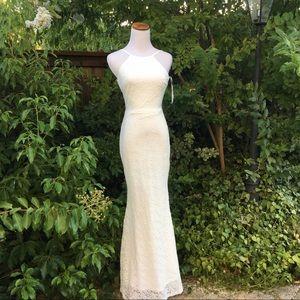 LULUS WHITE LACE BRIDAL DRESS